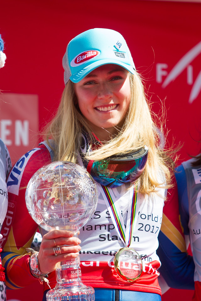 Mikaela Shiffrin Overall Slalom 2017 Audi FIS Ski World Cup finals in Aspen, CO. Photo © Cody Downard