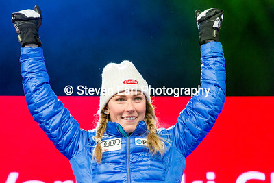 Mikaela Shiffrin Slalom 2017 FIS Alpine World Championships in St. Moritz, Switzerland Photo © Steven Earl