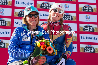 Mikaela Shiffrin and her mother, Eileen Slalom 2017 FIS Alpine World Championships in St. Moritz, Switzerland Photo © Steven Earl