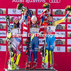 Wendy Holdener (SWI), Mikaela Shiffrin and Frida Hansdotter (SWE)<br /> Slalom<br /> 2017 FIS Alpine World Championships in St. Moritz, Switzerland<br /> Photo © Steven Earl