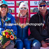 Mikaela Shiffrin with her parents Eileen and Jeff<br /> Slalom<br /> 2017 FIS Alpine World Championships in St. Moritz, Switzerland<br /> Photo © Steven Earl