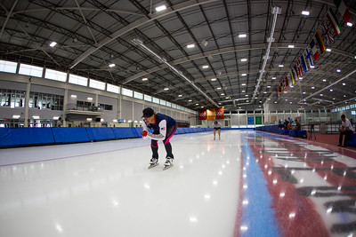 Stacey Cook U.S. Women's Alpine Ski Team speedskating training at the Olympic Oval Photo: U.S. Ski & Snowboard