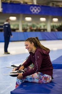 Alice Merryweather U.S. Women's Alpine Ski Team speedskating training at the Olympic Oval Photo: U.S. Ski & Snowboard