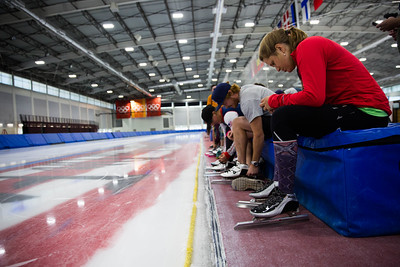 U.S. Women's Alpine Ski Team speedskating training at the Olympic Oval Photo: U.S. Ski & Snowboard