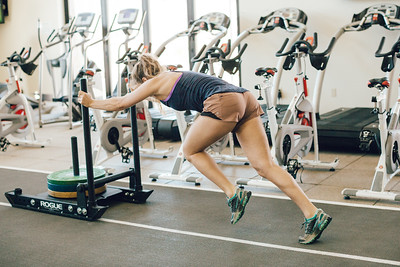 Resi Stiegler working out at the Center of Excellence in Park City Photo: U.S. Ski & Snowboard