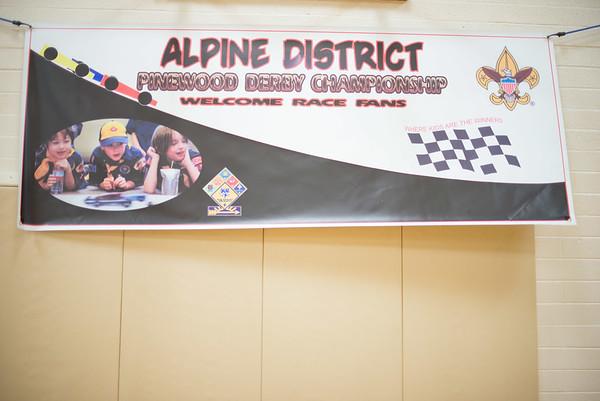 Alpine District Pinewood Derby April 23 2016