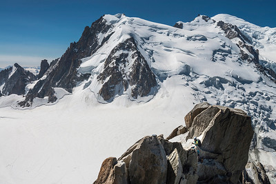 Mont Blanc seen from the Aiguille du Midi