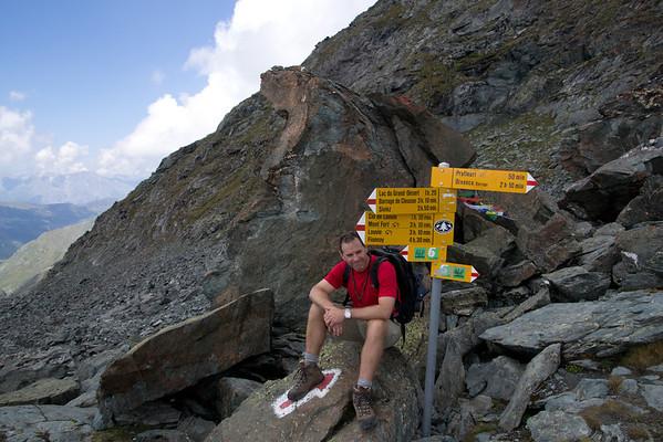 Resting before descending down toward Prafleuri.