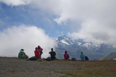 lunch break above Zinal