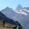 This along the high route, from St Niklaus to Zermatt, a very difficult trail that is often skipped.