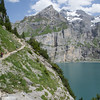 Hiking above and around Oeschinensee toward Kandersteg.
