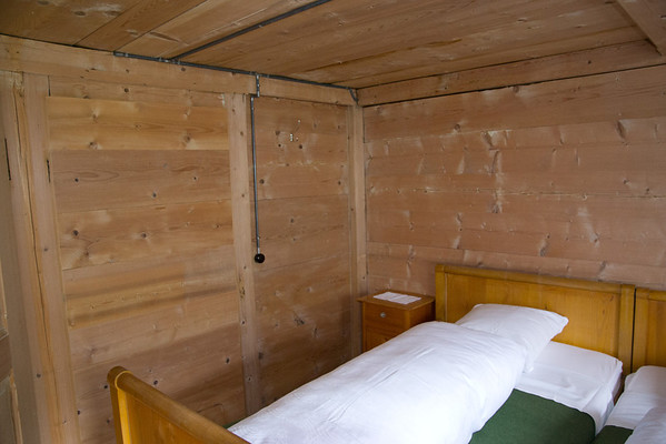 A typical mountain inn room... this is at the Hotel Waldrand in Griesalp.