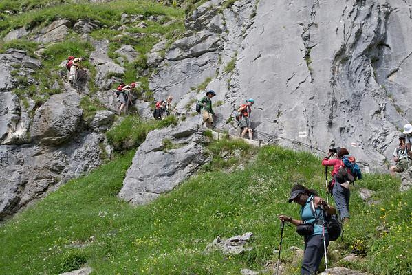 Hiking down from Oberberg, toward Oeshinensee.
