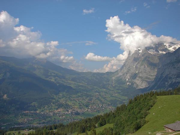 Grindelwald valley and Wetterhorn