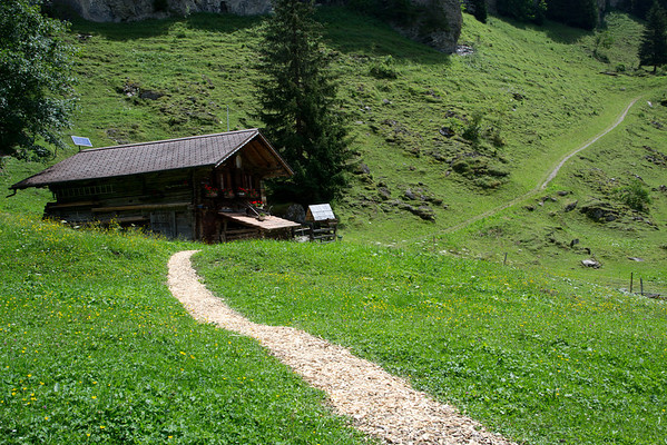 From Griesalp, a small chalet utilizing the sun for energy.