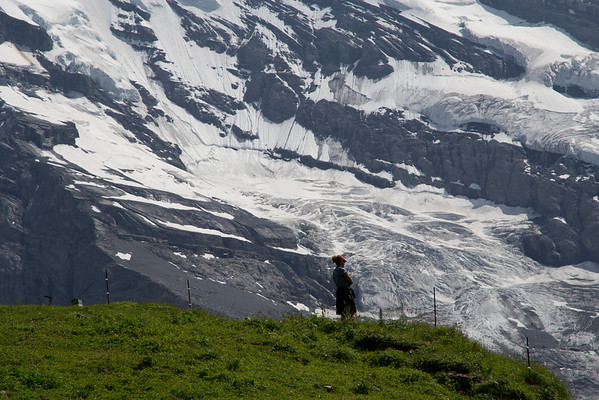 This is Judy Strickler, one of our guides, enjoying the breathtaking beauty of the Swiss Alps.