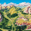 Val Badia and Corvara in the Dolomites lies between the Val Gardena and Cortina d'Ampezzo