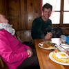 A surprisingly lunch at the Hornli hut