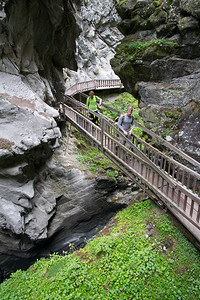 The Gorner gorge in Zermatt is an exciting short detour near town through a steep, narrow river gorge.