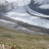 The Gorner glacier sweeping below us on a hike up to Gornergrat