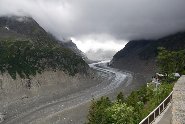 The Mer de Glace above Chamonix.