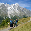 On the trail between Courmayeur and Bonatti, a favorite day on our TMB and Mont Blanc Highlights tours.
