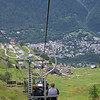 Sometimes we don't hike ALL the way... this chairlift makes our descent to Courmayeur easy.