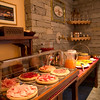 The Hotel Bouton d'Or serves a delicious breakfast with homemade breads and cakes, meat and cheese, juice and more.