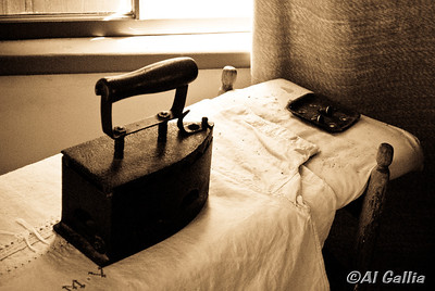 "©Al Gallia; ""Not for Sissies""; Ironing was not for sissies in the good old days! Taken at Vermilionville Cajun/Creole Heritage Park in Lafayette, Louisiana."