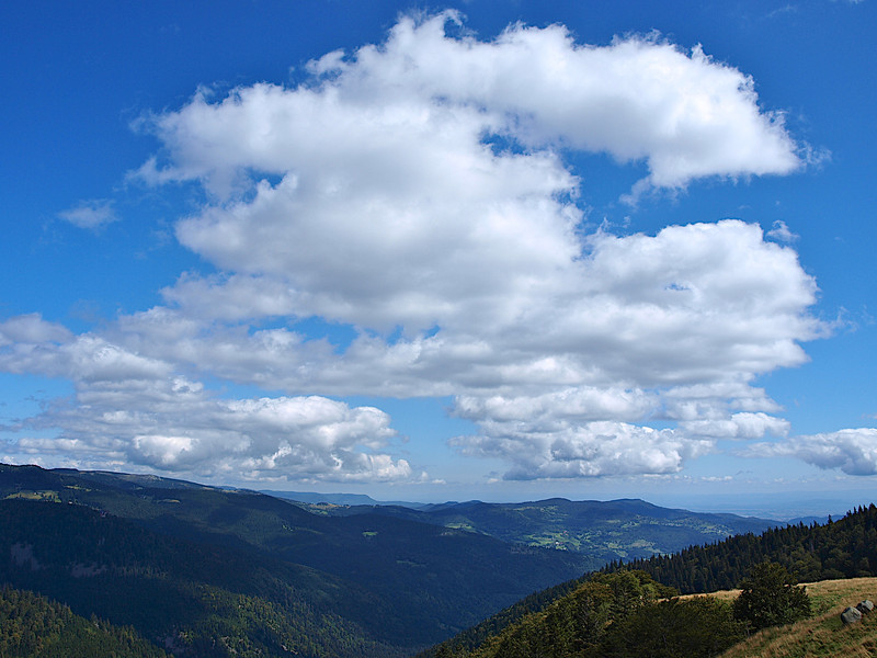 Le même panorama, mais ici, c'est le ciel qui a été privilégié [Photo Élise]