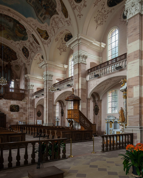 Ebersmunster Abbey Church Nave Bays