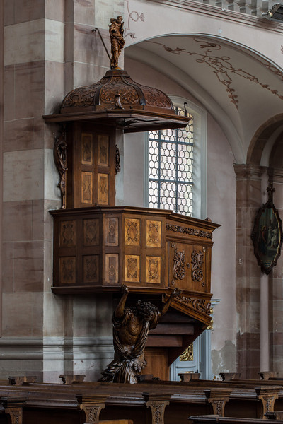 Ebersmunster Abbey Church Pulpit