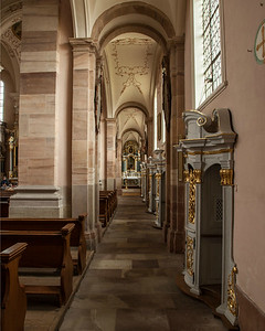 Ebersmunster Abbey Church Aisle