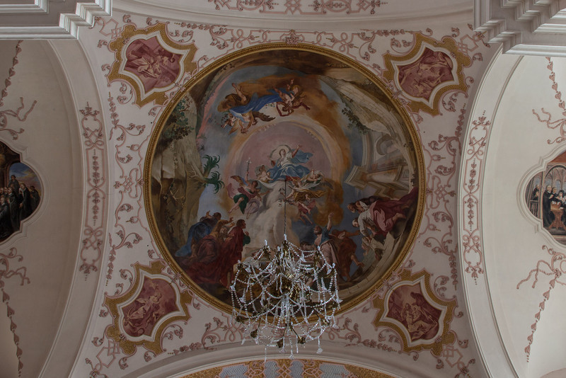 Ebersmunster Abbey Crossing Vault Fresco - The Ascension of The Virgin