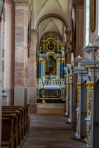Ebersmunster Abbey Church Aisle Altar