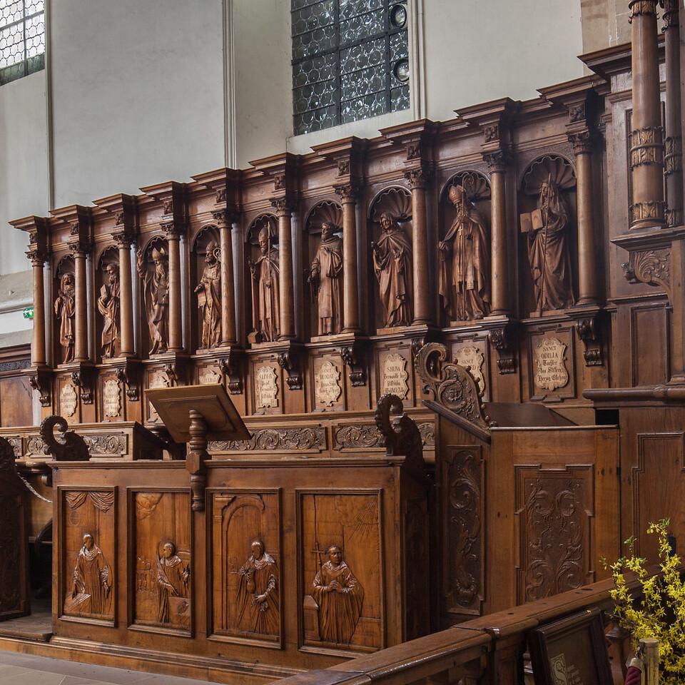 Ebersmunster Abbey Choir Stalls.