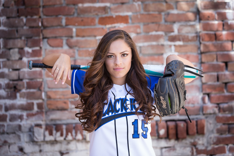Senior Softball Player Girl
