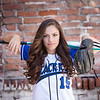 Senior Softball Player Girl