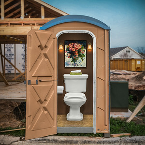 Plush Port-a-potty.