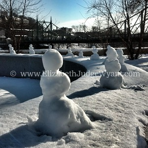 Mini Snowmen, Riverside Park, Easton, PA