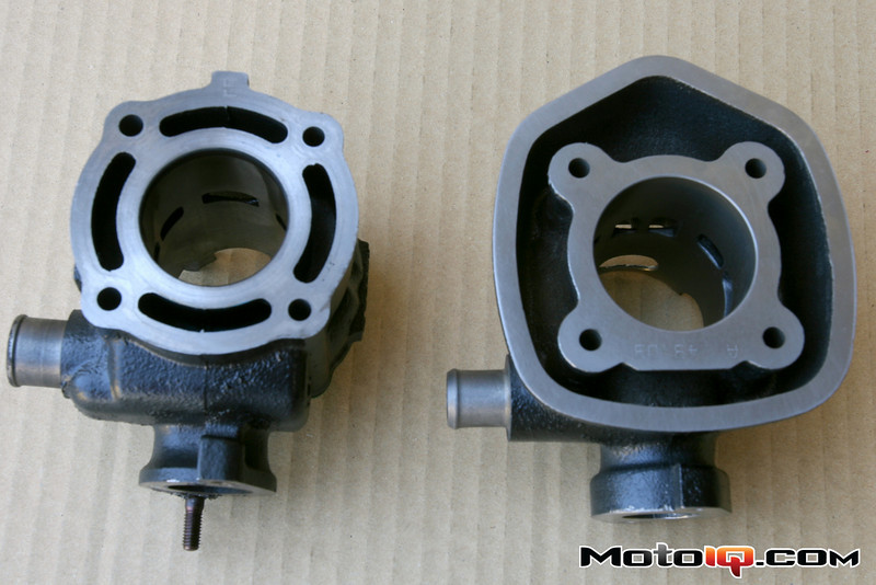 Malossi vs stock Aprilia SR50 cylinders