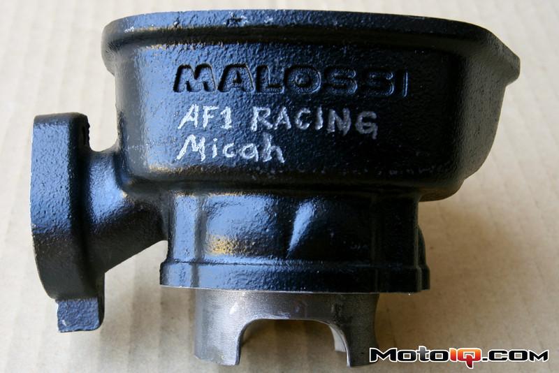 Micah Shoemaker porterd Aprilia SR50 big bore cylinder