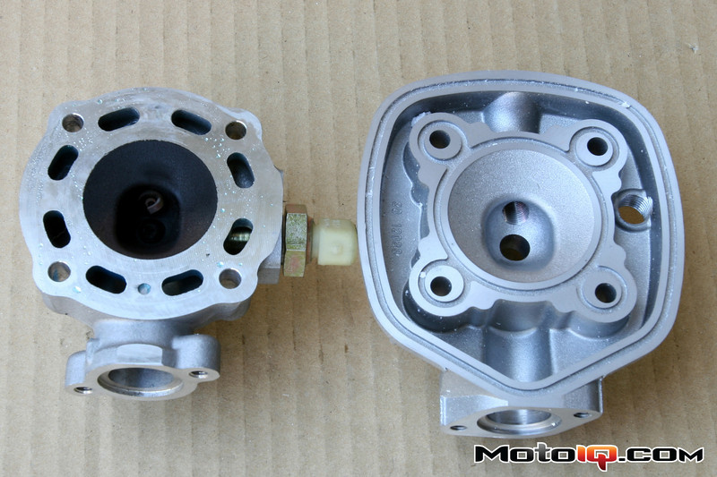 Malossi big bore cylinder head for aprilia SR50