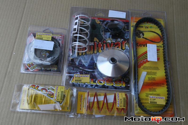 malossi multivar 2000, contrast springs and belt for aprilia sr50