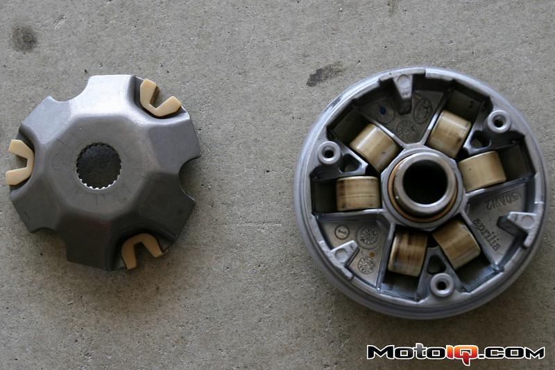 Aprilia SR50 variator rollers