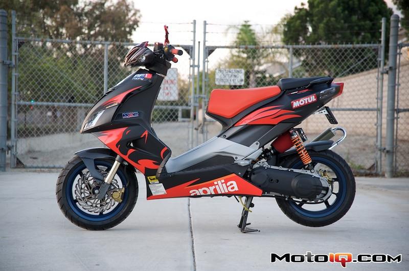 Aprilia SR50 MotoIQ.com Project bike