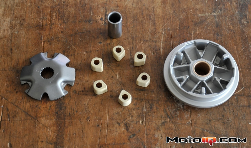 Malossi multivar 2000, wpc treated and dr pulley sliders