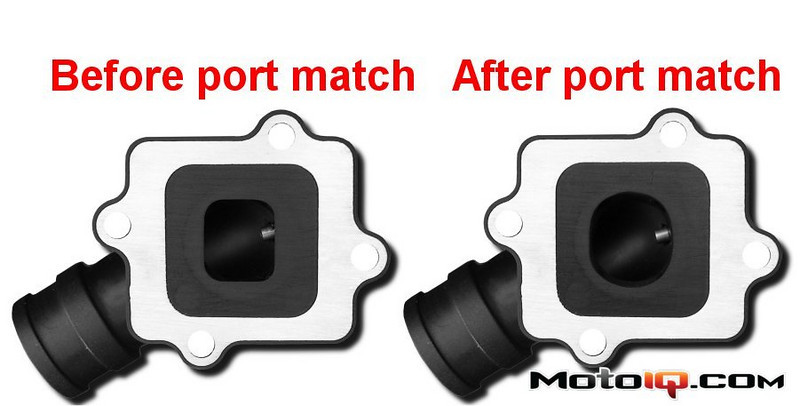 Aprilia SR50 Intake manifold match porting