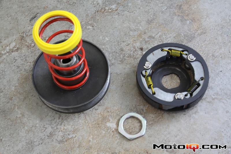 contrast spring, torsion controller ,dr pulley clutch