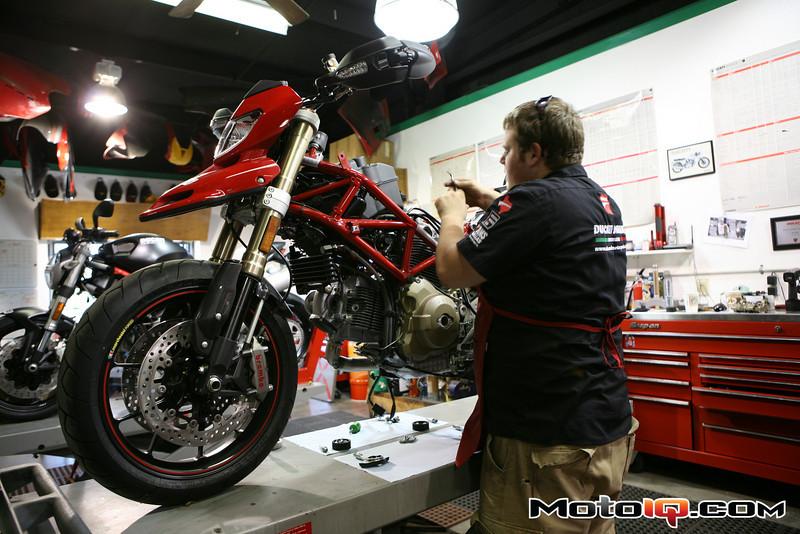 AMS Ducati hypermotard cam install
